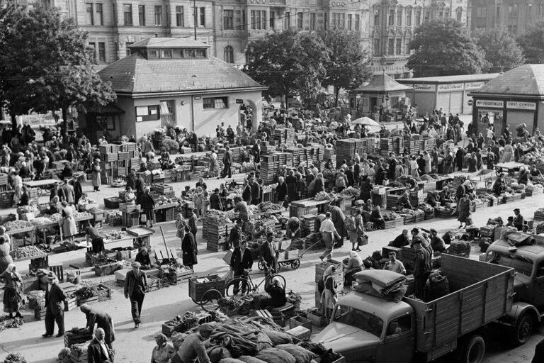 historische Aufnahme, Naschmarkt, Großmarkt, Wienzeile