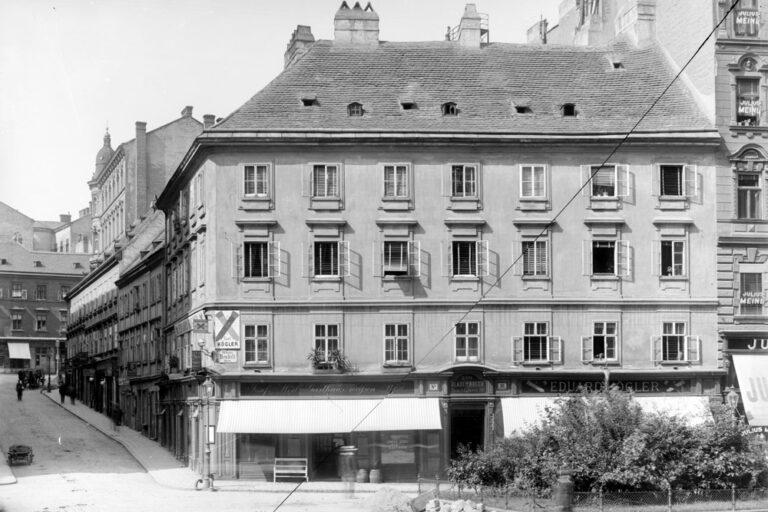 historische Aufnahme, Neustiftgasse, Kellermanngasse, Plattenstil, 1070 Wien
