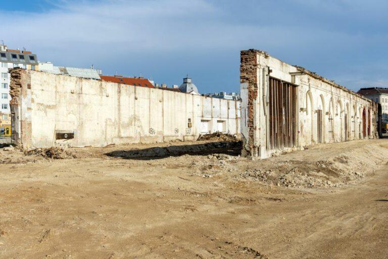 Gösserhalle nach dem Abriss