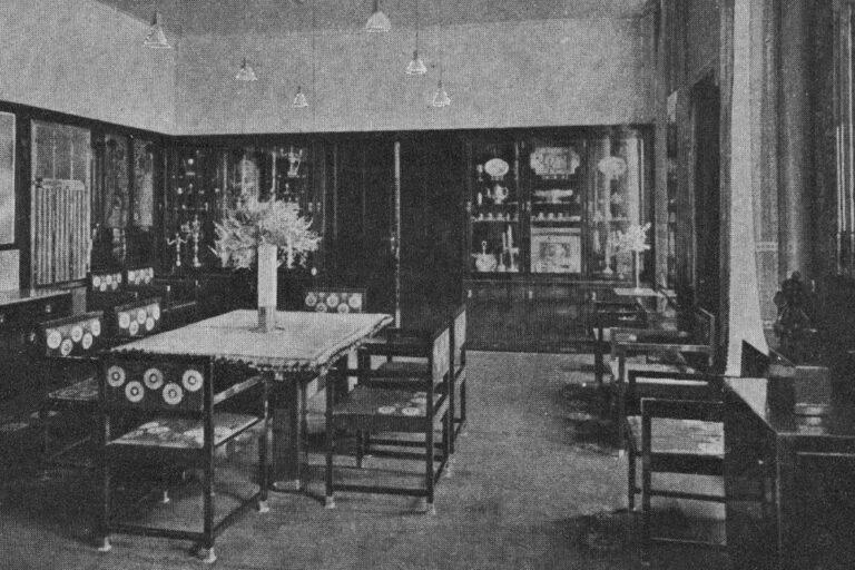 historische Aufnahme des Speisezimmers in der Wohnung von Otto Wagner, Döblergasse 4, 1070 Wien