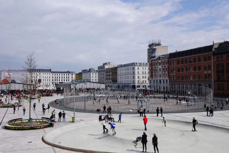 Verkehrsberuhigung, Platz, Dänemark, Kopenhagen