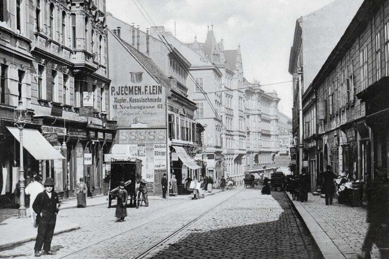 altes Foto der Neubaugasse in 1070 Wien