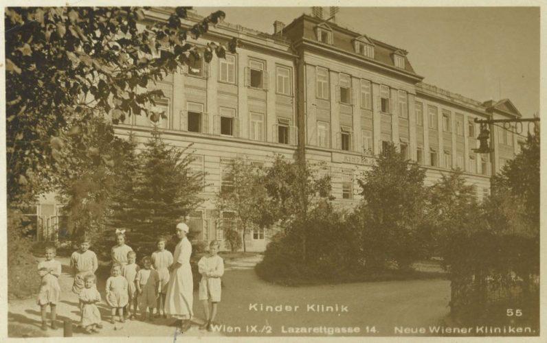 Kinderklinik (Ansichtskarte, um 1920?)