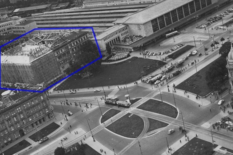Blaues Haus Sat 1955 Markierung