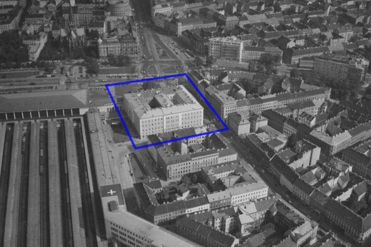 Blaues Haus Sat 1957 Markierung