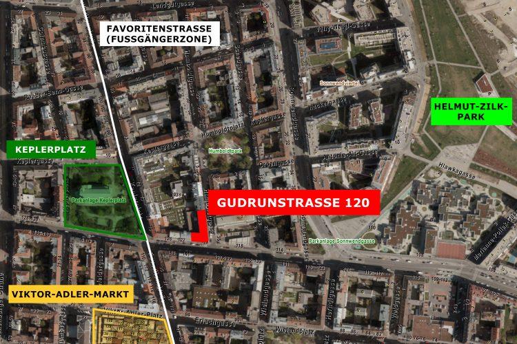 Gudrunstraße 120 Karte