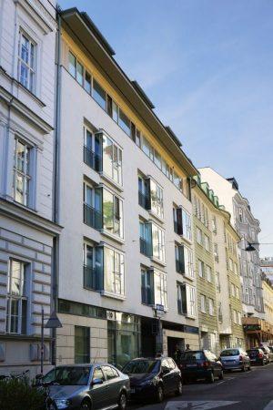 Marchettigasse 5 und 7, Neubauten in Schutzzone, Wien-Mariahilf (6. Bezirk)
