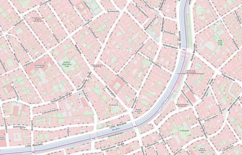 Marchettigasse Stadtplan