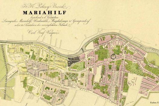 Marchettihaus Karte 1830