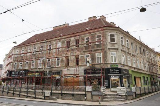 Biedermeierhäuser Mariahilfer Straße 166-168, bei Teilabriss 2018