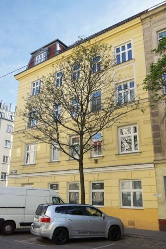 Gründerzeithaus Mendelssohngasse 7 in Kaisermühlen, Wien-Donaustadt (22. Bezirk)