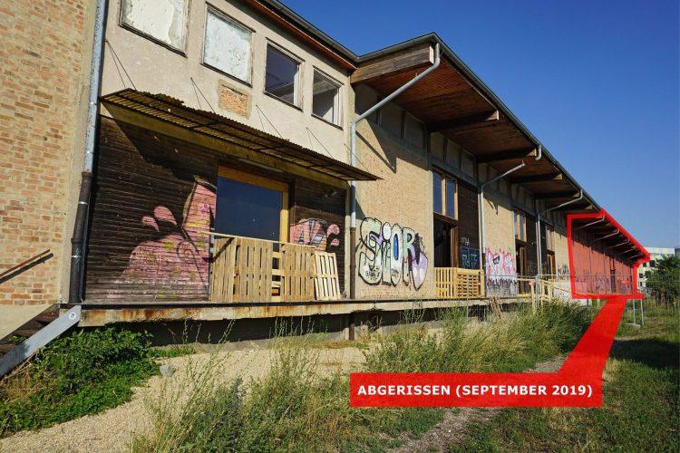 Grafik zum Abriss der Nordbahnhalle in Wien-Leopoldstadt