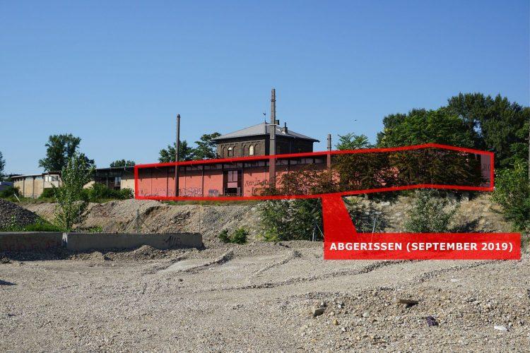 Grafik zum Abriss der Nordbahnhalle in Wien