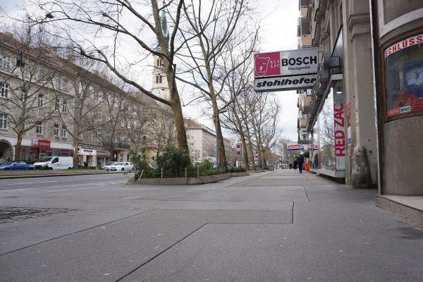 Praterstraße Gehsteig 2019