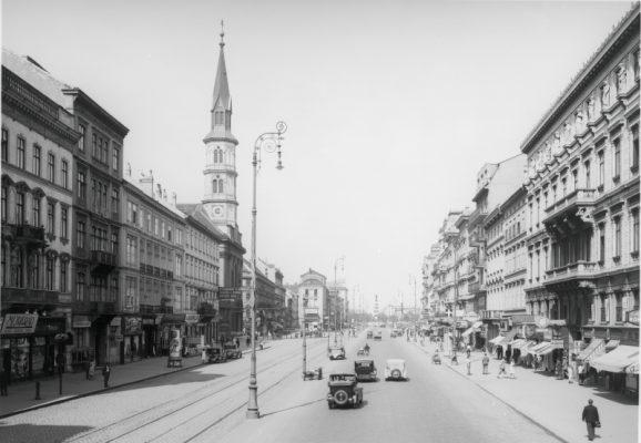 Durchblick vom Turmwagen, nächst dem Carltheater gegen den Praterstern.