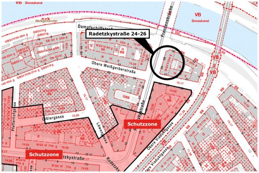 Radetzkystraße Schutzzone