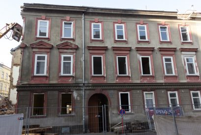 Abriss eines Gründerzeithauses in der Greiseneckergasse/Raffaelgasse in Wien-Brigittenau
