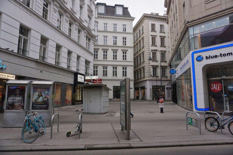 Rotenturmstraße vor der Umgestaltung, 2019, Nähe Stephansdom, Wien