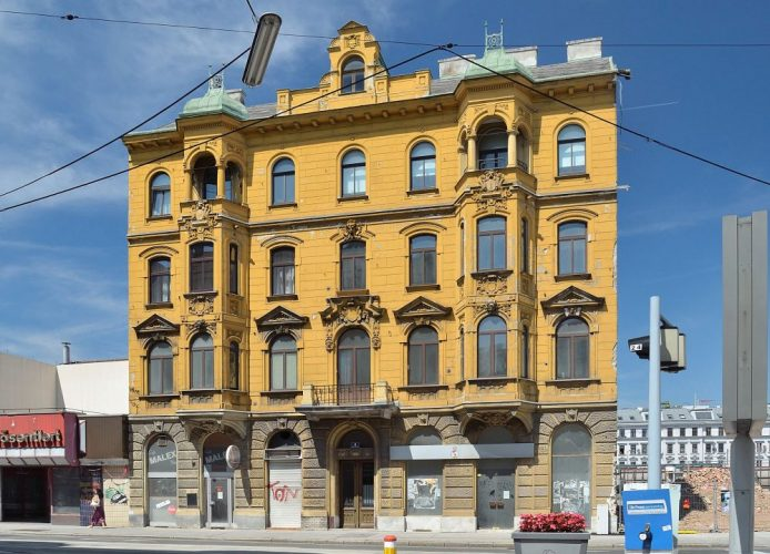 Gründerzeithaus Schönbrunner Schloßstraße 2 vor dem Abriss, Kometgründe, Wien-Meidling