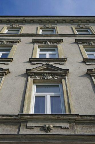 Gründerzeithaus Schüttauplatz 14 in Kaisermühlen, Wien-Donaustadt (22. Bezirk), erbaut 1904