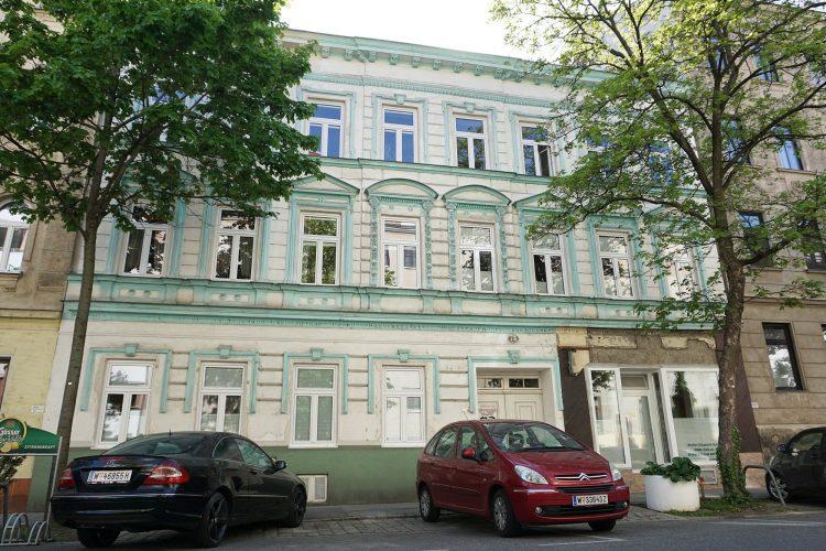 Gründerzeithaus Schiffmühlenstraße 78 in Kaisermühlen, Wien-Donaustadt, erbaut 1874