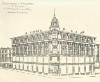 Zeichnung eines alten Gebäudes