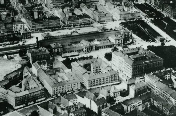 Wiener Westbahnhof um 1930, Luftaufnahme